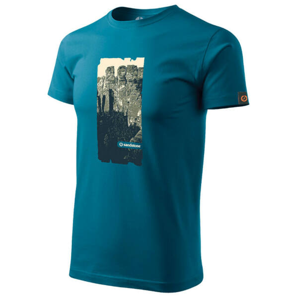 SANDSTONE MEN'S HERITAGE T-SHIRT TOWERS PETROL BLUE