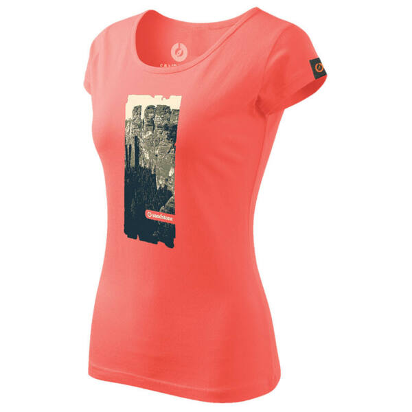 SANDSTONE WOMEN'S HERITAGE T-SHIRT TOWERS CORAL