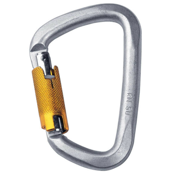 SINGING ROCK D TRIPLELOCK ACÉL KARABINER
